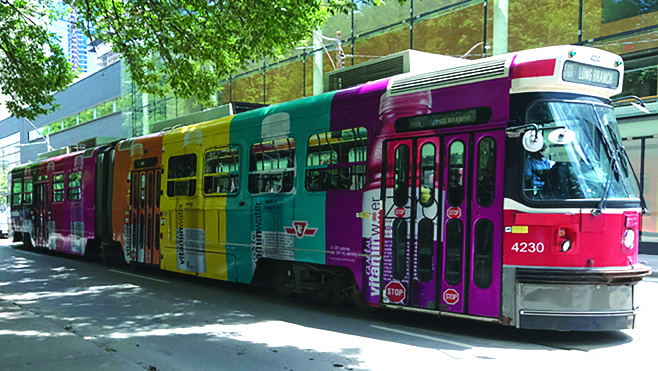 M&H produced Vitaminwater billboards, transit ads, and streetcar wraps