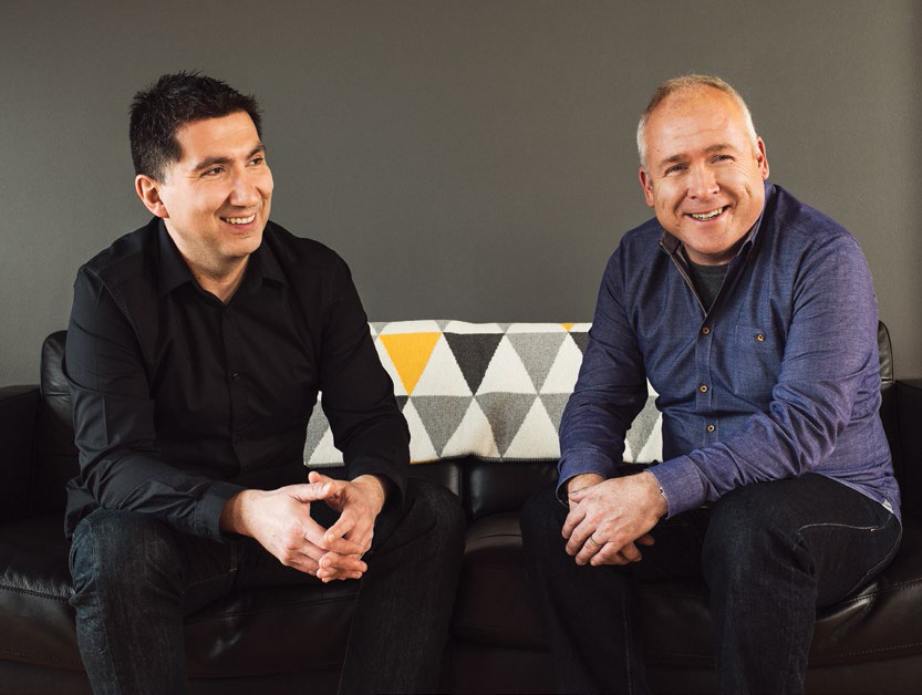 John Furneaux's (right) first hire was digital director Kostas Zaphiropoulos (left)